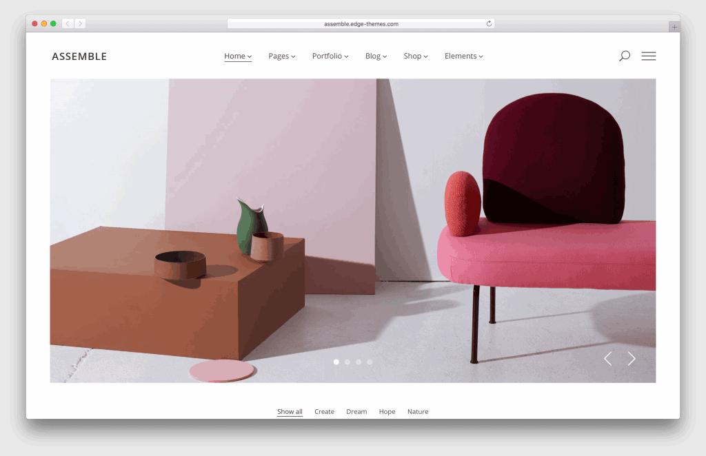 Assemble WordPress portfolio theme screenshot