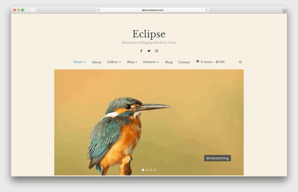 Eclipse WordPress portfolio theme screenshot