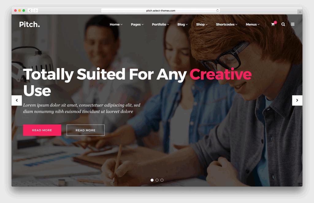 Pitch WordPress portfolio theme screenshot