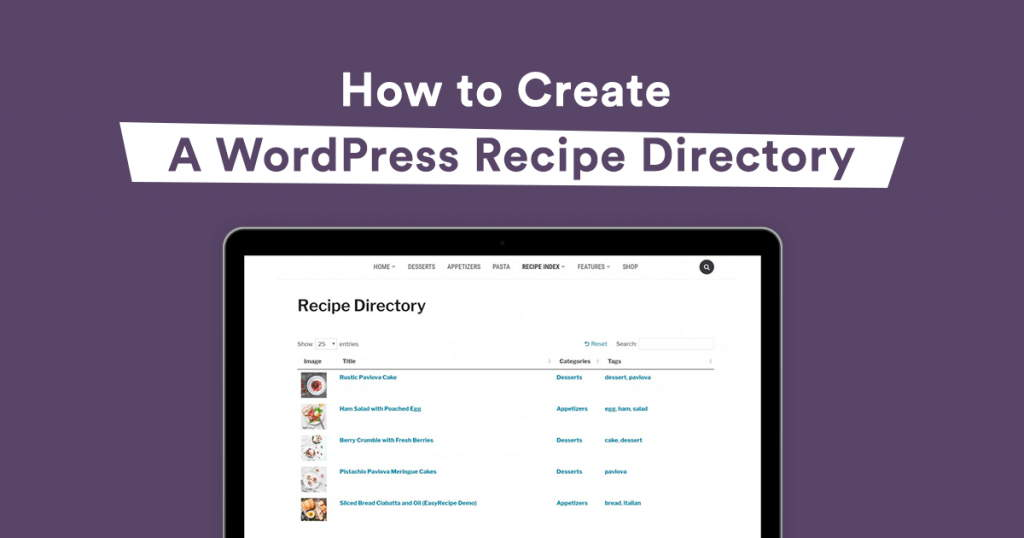 wordpress recipe directory