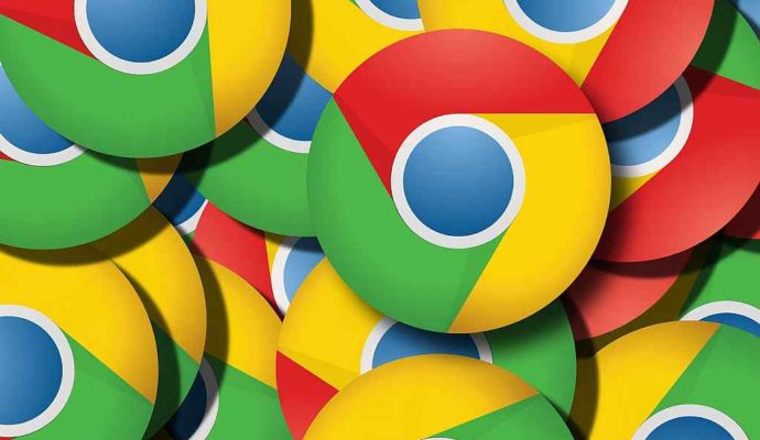 Google Chrome logo multiplied