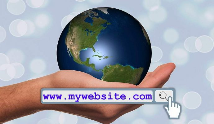 domain name in browser address box