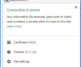 https security validation in chrome